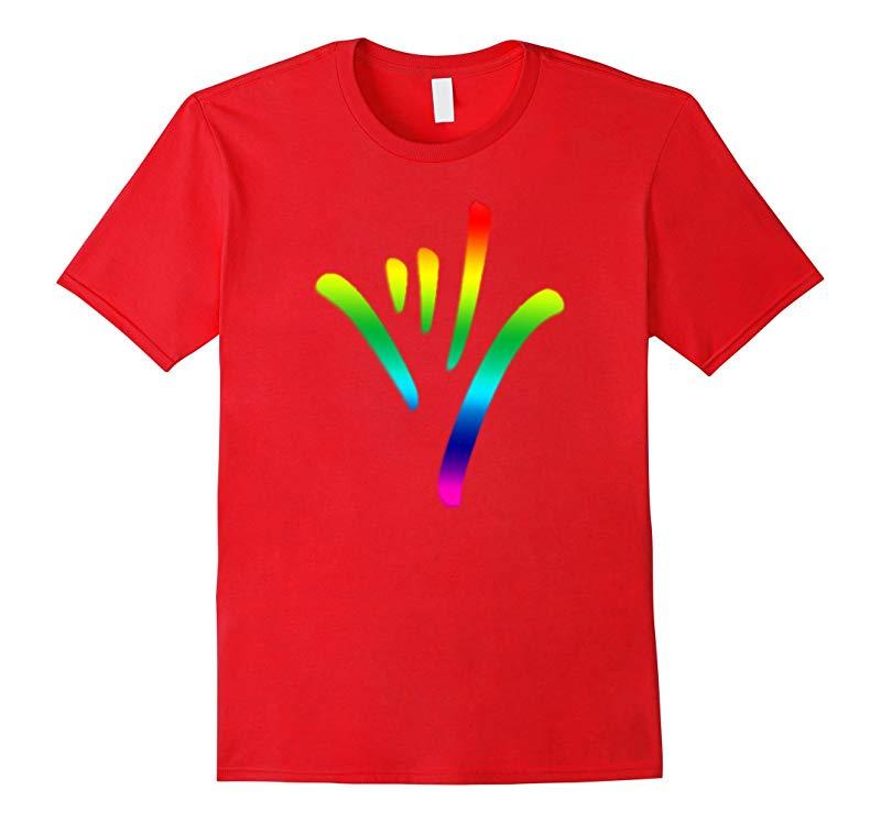 Rainbow I Love You Sign Language deaf culture T shirt Pride-TD