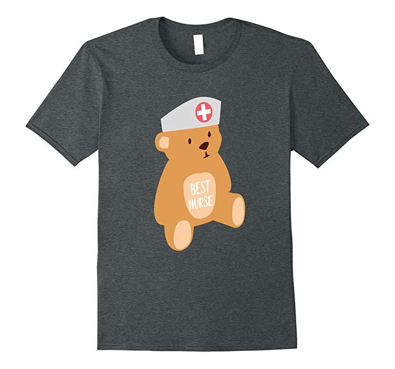 Best Nurse Teddy Bear Shirt Gift RN LPN Nursing Appreciation-FL