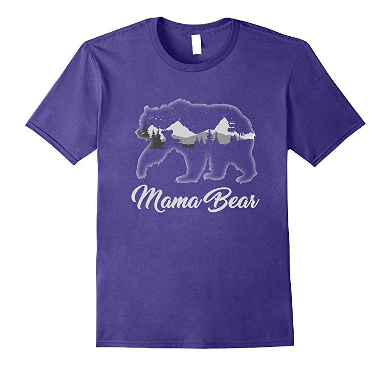 Mama Bear Rustic Mothers Day Tee Shirt Gift For Mom  Women-RT