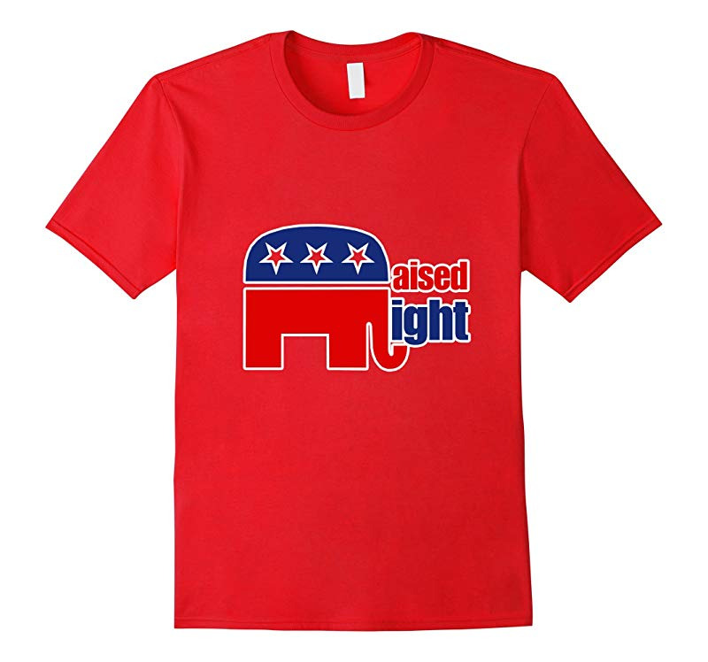 Raised Right kids shirt Republican GOP elephant logo tees-RT