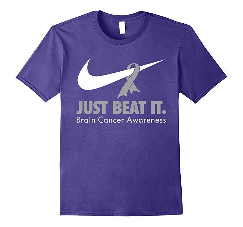 Just Beat It - Brain Cancer Awareness T Shirt-Vaci