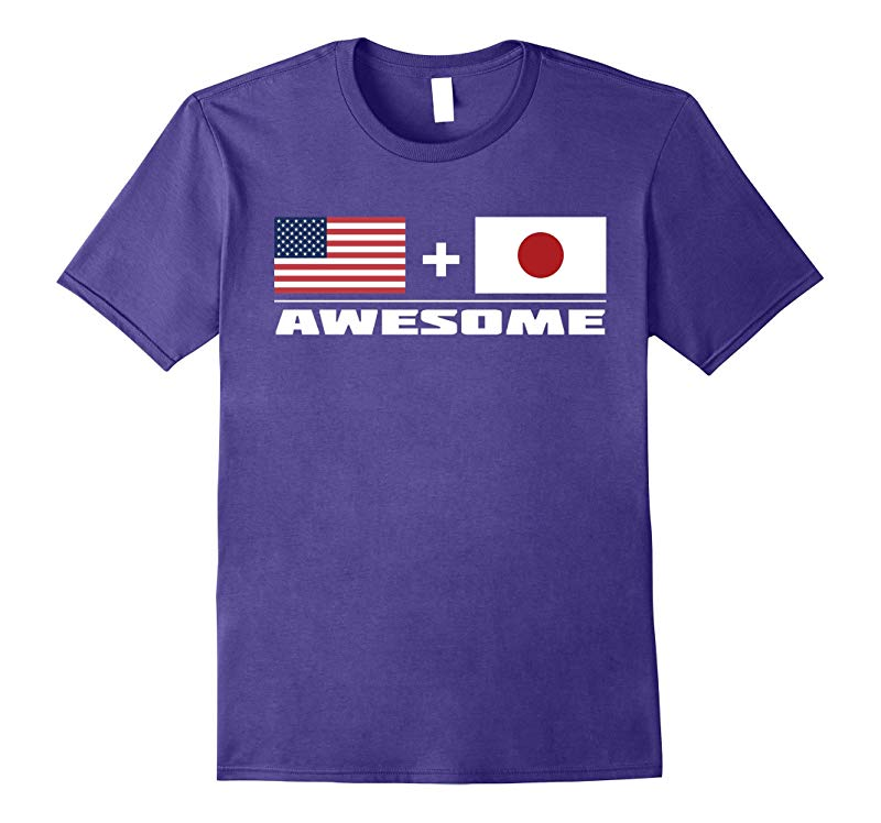 American  Japanese  Awesome USA and Japan Flags T-Shirt-TJ