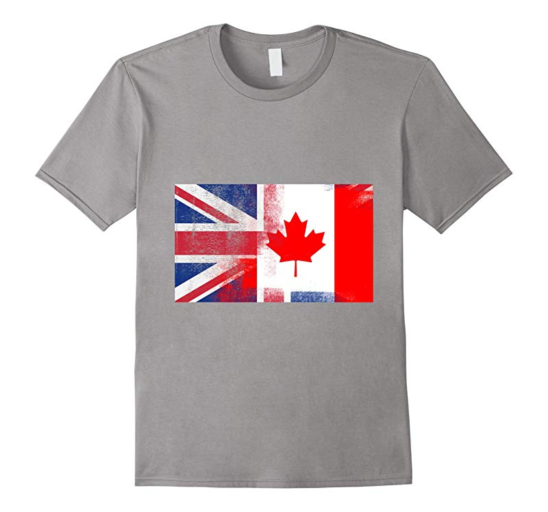 British Canadian Half Canada Half UK Flag Shirt-CD