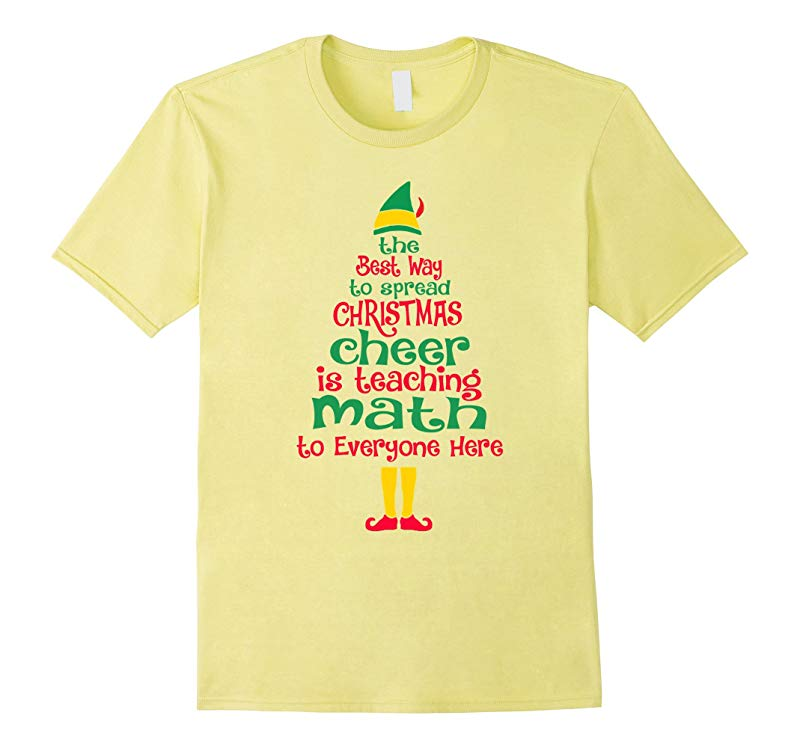 Elf Math Teacher Christmas T-Shirt Xmas Cheer Funny Teacher-FL