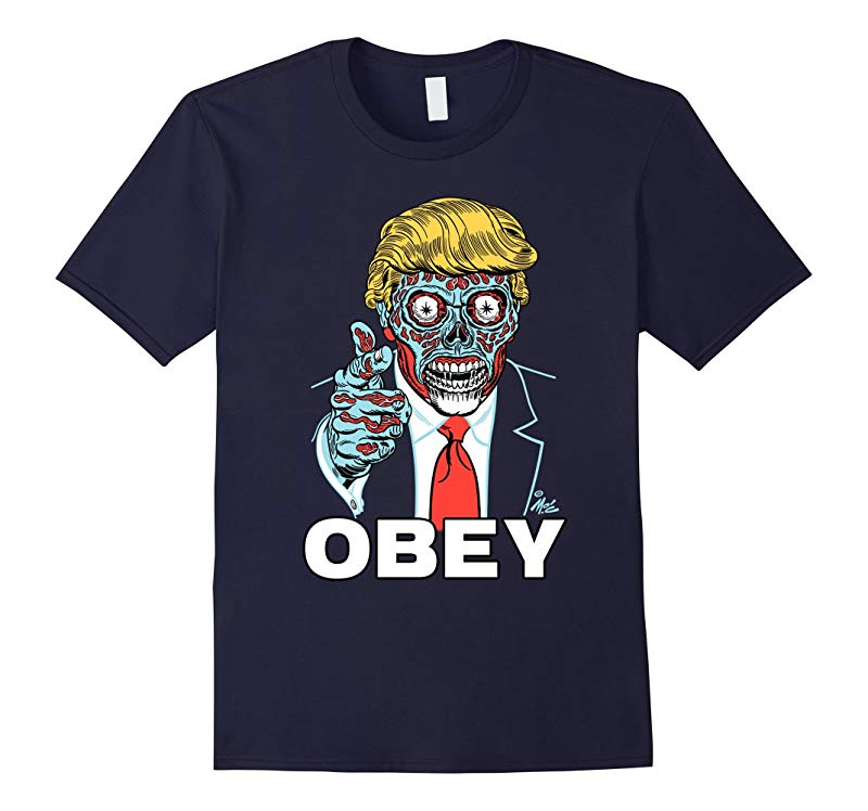 OBEY Donald Trump Protest Alien Parody Liberal T-shirt-Art