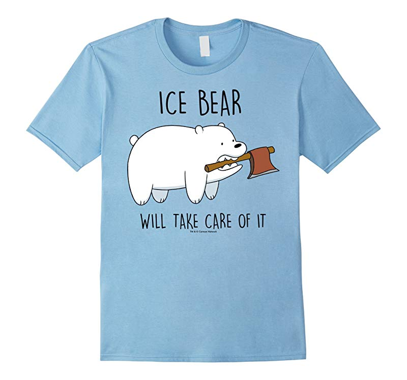 CN Bare Bears Ice Bear Take Care Of It Axe Graphic T-Shirt-RT