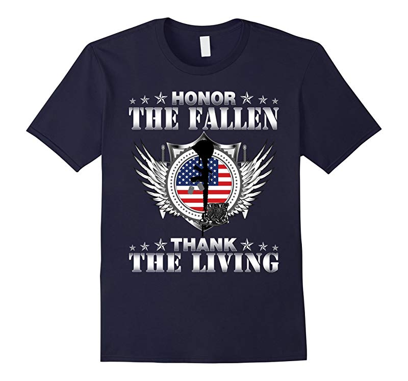 Honor The Fallen Thank The Living T-Shirt Memorials Day-RT