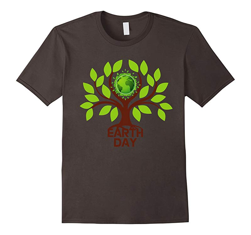 Earth Day 2017 Save Tree Nature Go Green Globe T-Shirts-RT