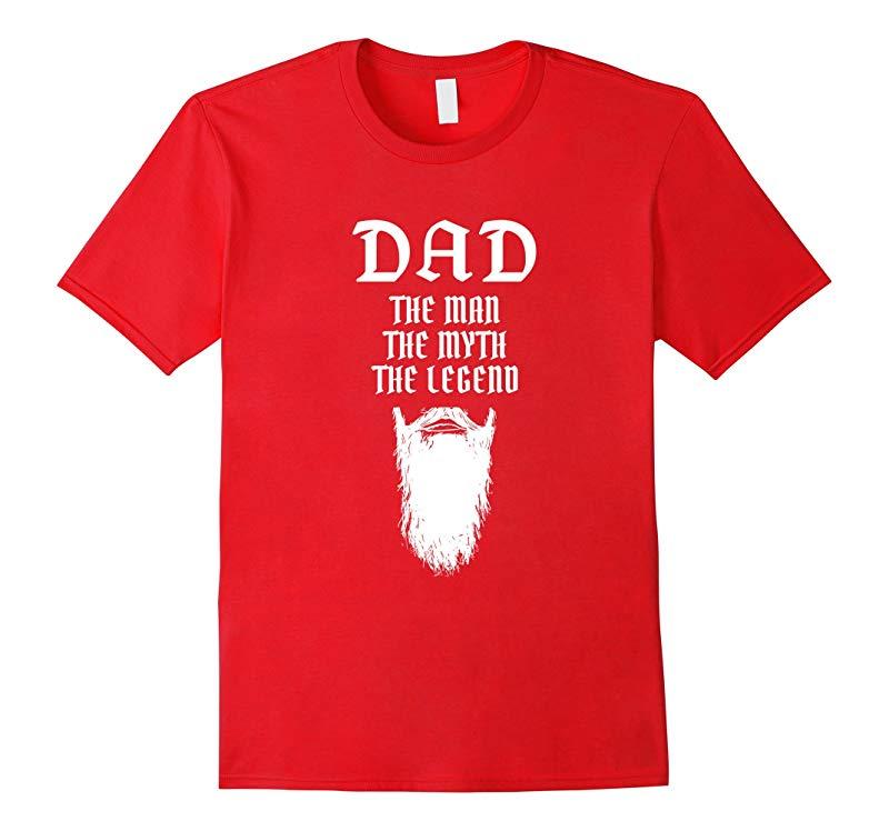 DAD Man Myth Legend Beard T-Shirt-TD