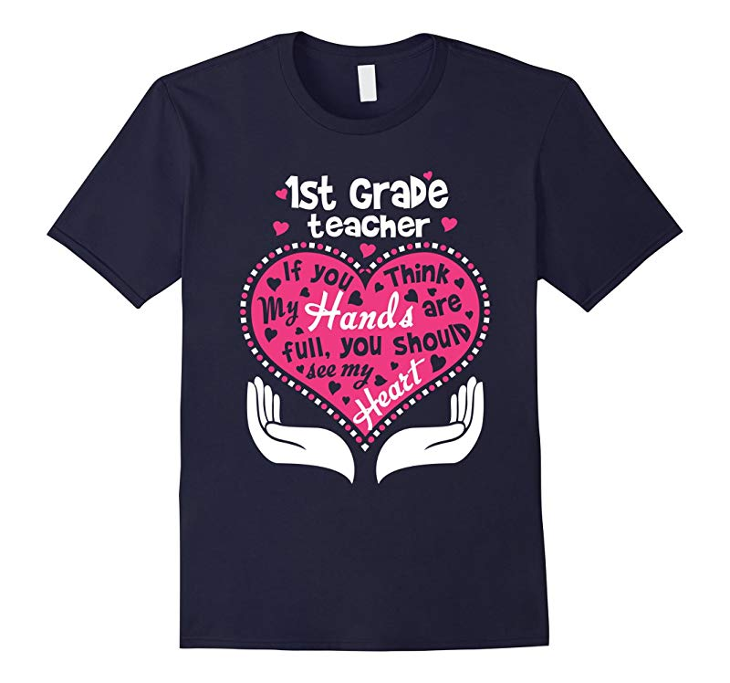 1st Grade Teacher Full Heart T Shirt-RT