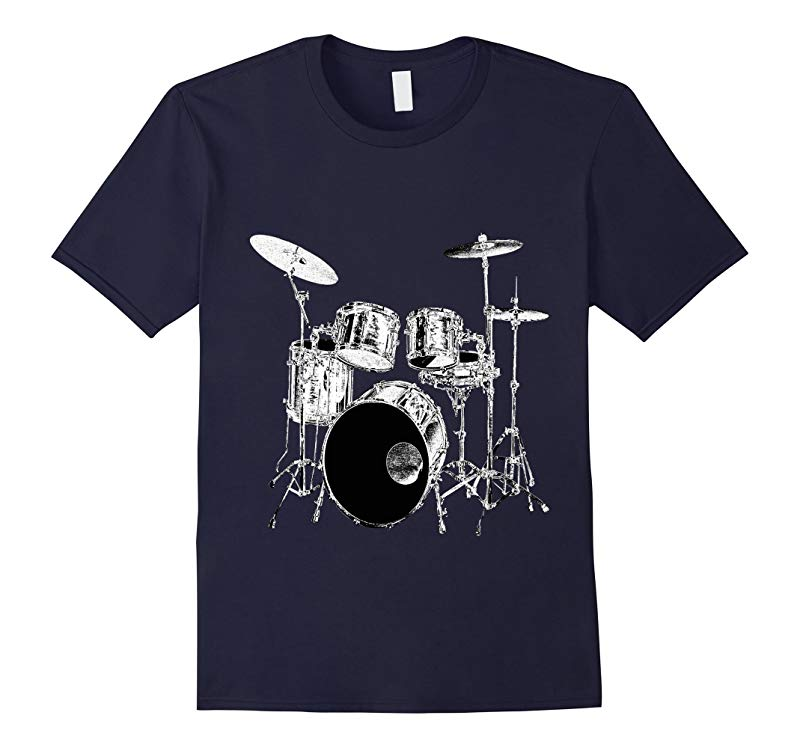 Drums T-Shirt design Drummer Tee-RT
