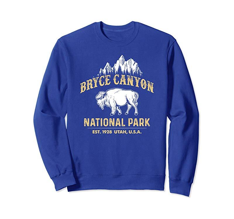 Bryce Canyon National Park Utah USA Buffalo Bison Sweatshirt-TH