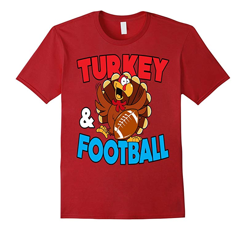 Thanksgiving Turkey and Football T-Shirt Holiday-T-Shirt