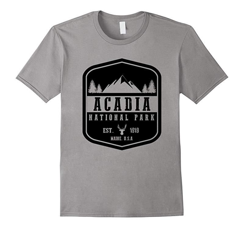 Acadia National Park T Shirt Maine Hiking Tee Wanderlust-PL