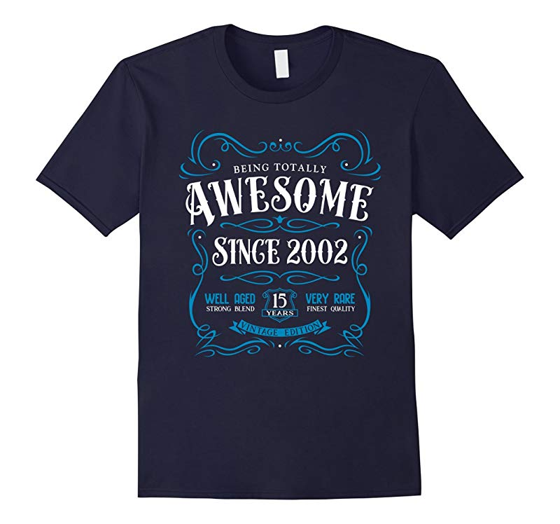 15th Birthday Gift T-Shirt Awesome Since 2002-BN