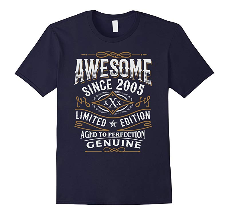 12th Birthday Gift T-Shirt Awesome Since 2005 Shirt-RT