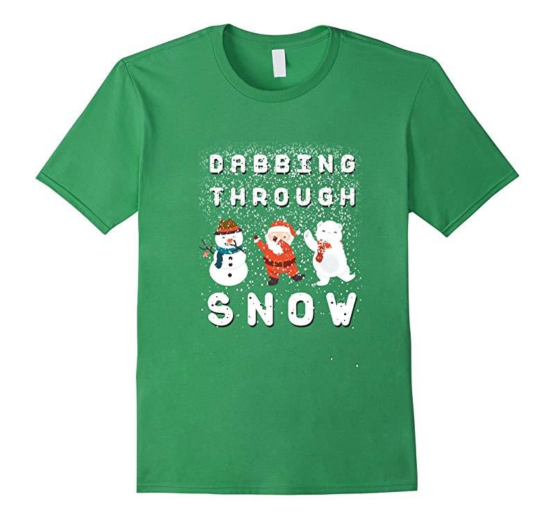 Dabbing Through The Snow - Premium T Shirt - Men Women Youth-RT