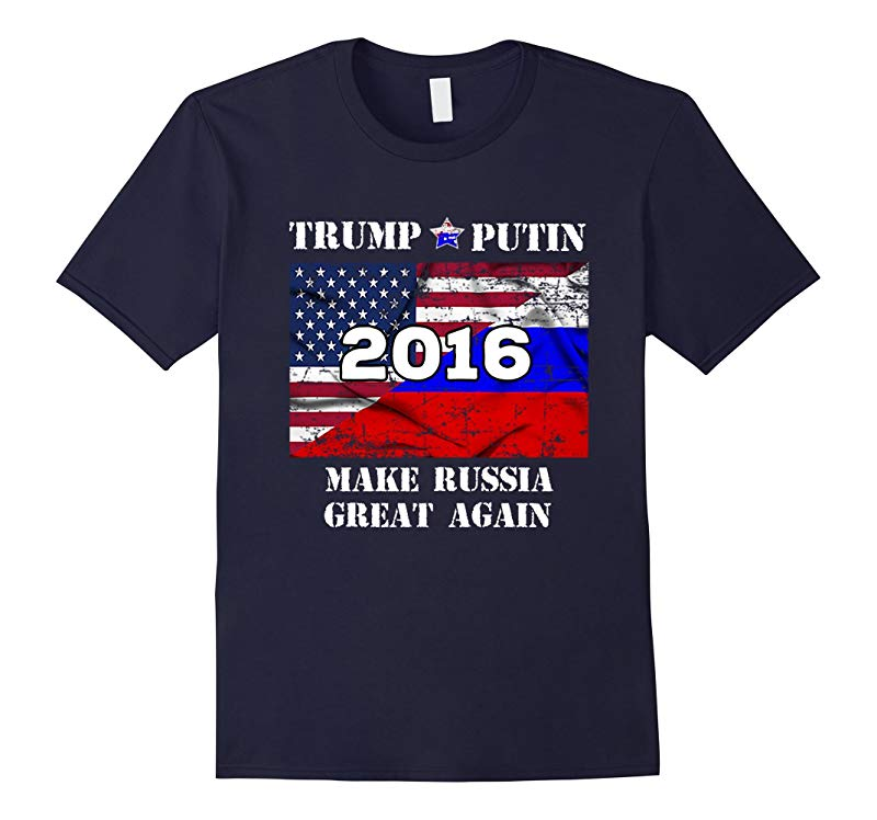 Trump Putin Make Russia Great Again Political Parody T-Shirt-RT