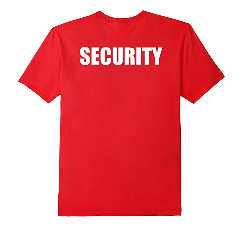 SECURITY - Event Safety Multiple Colors - Back Print Shirts-RT
