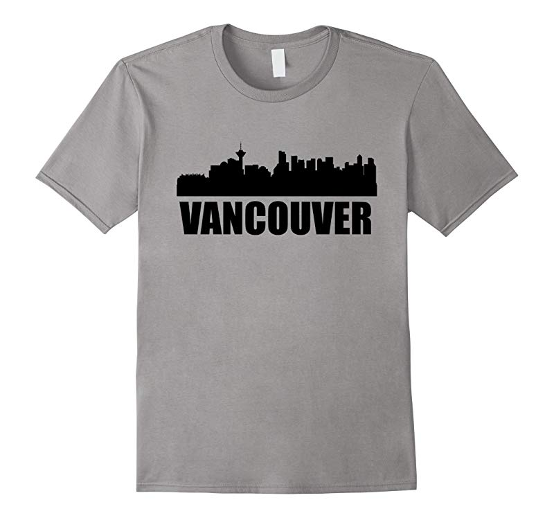 Skyline Of Vancouver British Columbia T-Shirt-RT