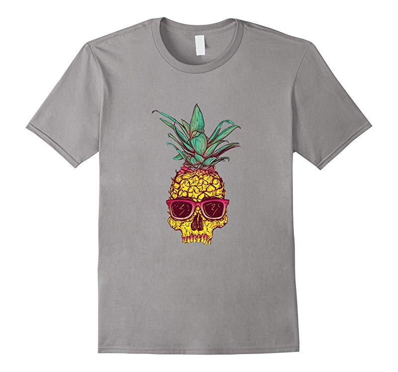 Pineapple Skull Sunglasses Colorful Wild Abstract Shirt-RT