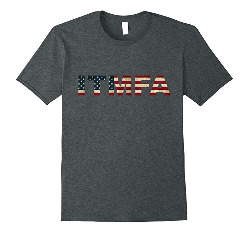 ITMFA Premium T-Shirt with American Flag-RT