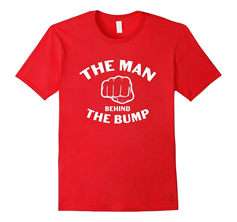 The Man Behind The Bump Mens T-Shirt-RT