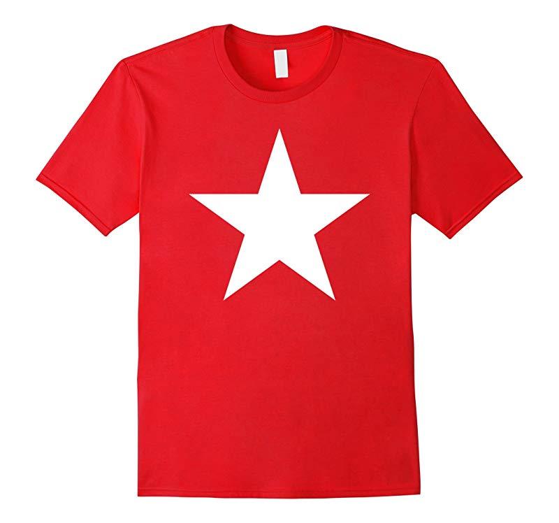 Big White Star T Shirt-TJ