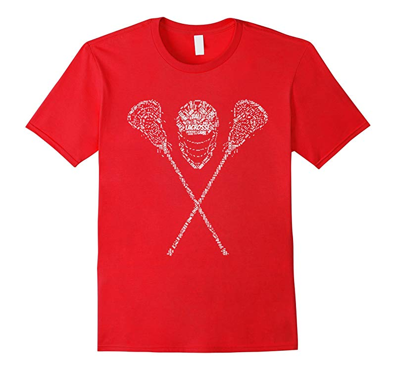 Lacrosse LAX Word Cloud T-Shirt-RT