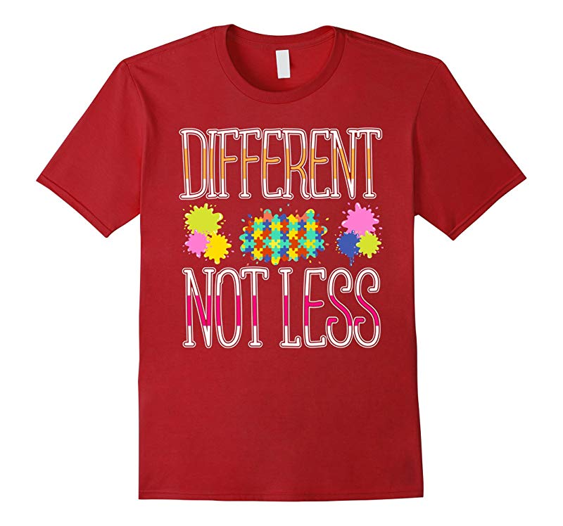2017 Gifts Autism Awareness T Shirt Different Not Less-RT