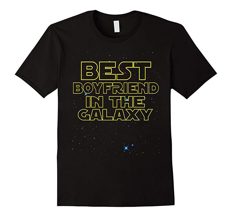 Best Boyfriend in the Galaxy Funny T-Shirt-RT