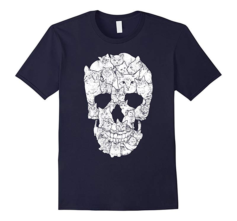 A Skull of Cats - Cat Lady T-shirt-RT