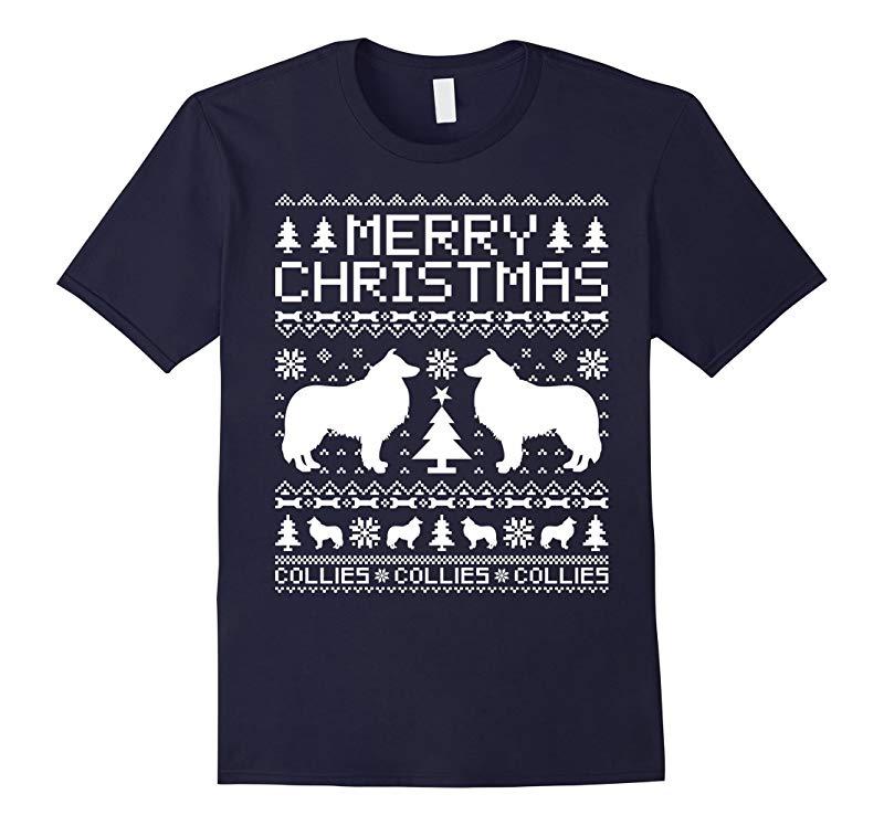 Collies Dog Merry Christmas T-shirt-RT