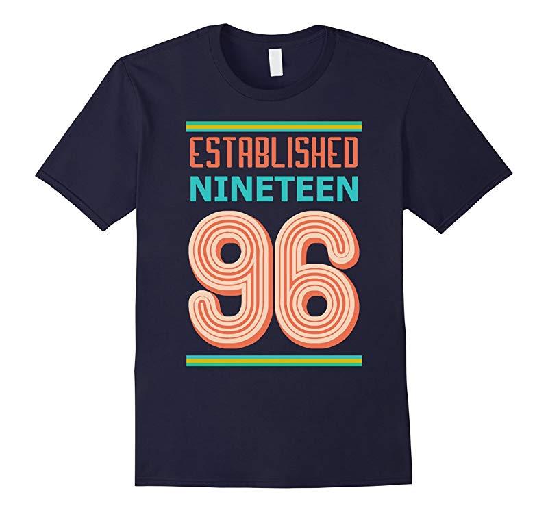 21st Birthday Gift shirt Established 1996 21 year old Tshirt-RT