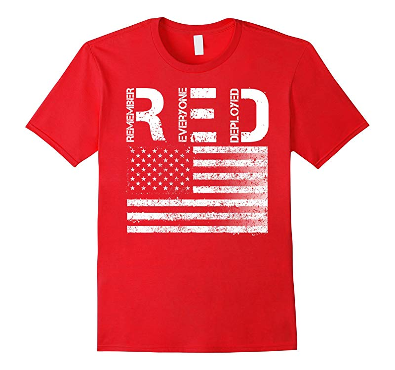 RED Remember Everyone Deployed Vintage Flag T-Shirt-RT