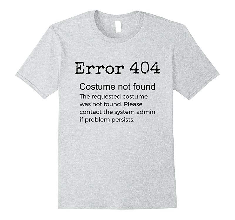 Error 404 Costume Not Found Funny Trick or Treat Costume-FL