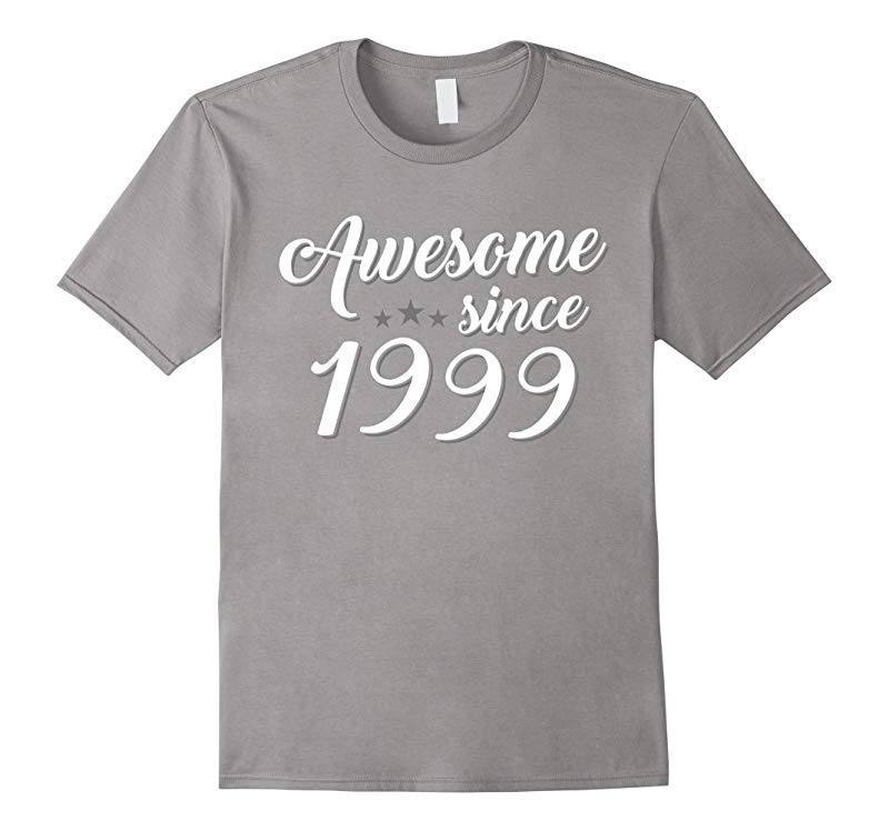 18th Birthday Gift tshirt Awesome Since 1999 18 year old Tee-RT