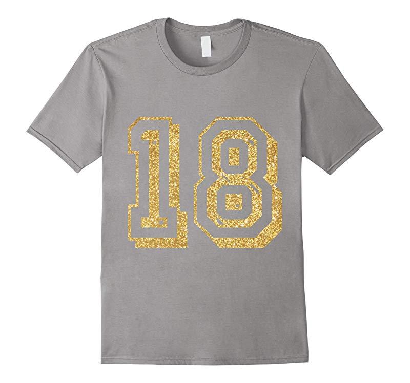 18th Birthday T Shirts Shirts  Tees Gold Faux T-Shirt-RT