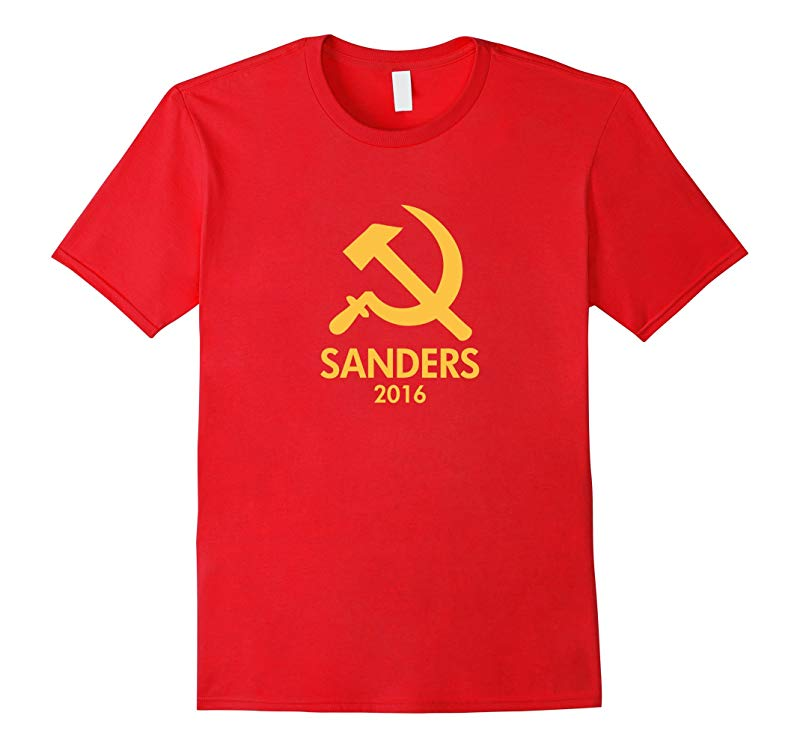 Hammer and Sickle Bernie Sanders Communism t shirt-RT