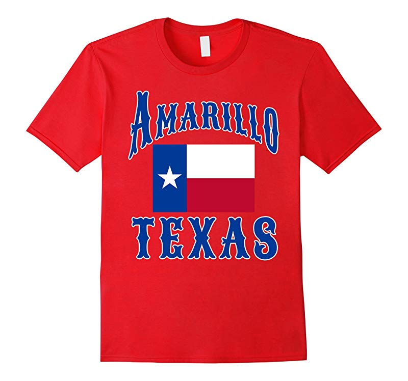 Amarillo Texas Tee with TX Flag from Scarebaby Design-RT