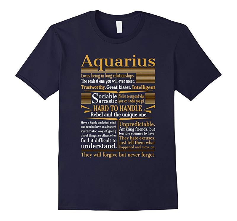Aquarius Loves Being In Long Relationships T-Shirt-TD