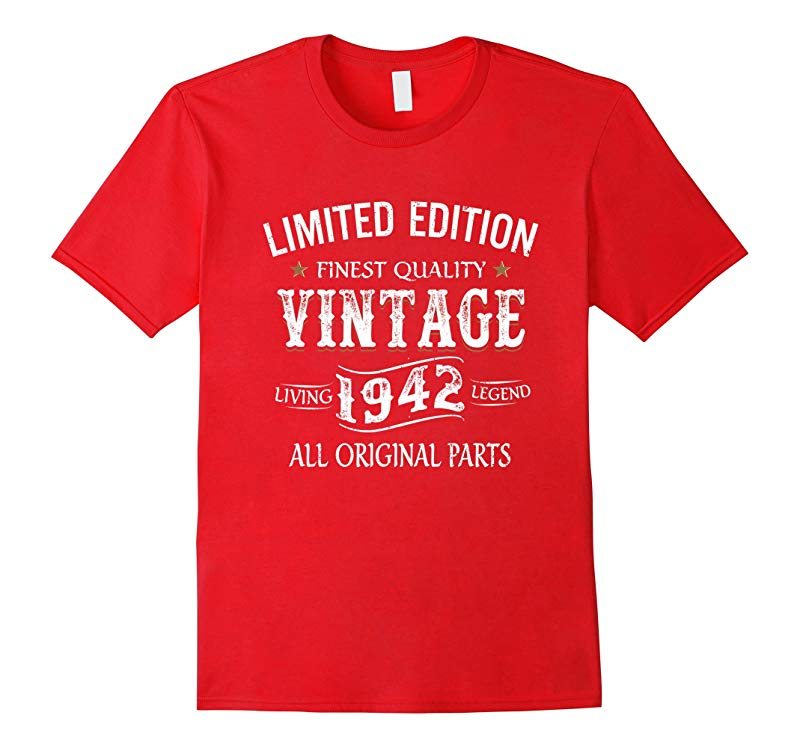 1942 T-Shirt 75th Birthday Gifts 75 Year Old B-day Present-PL