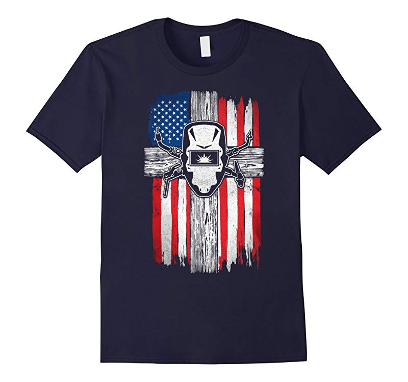 American Welder Hood Tee Shirt For Welding Dads-TD