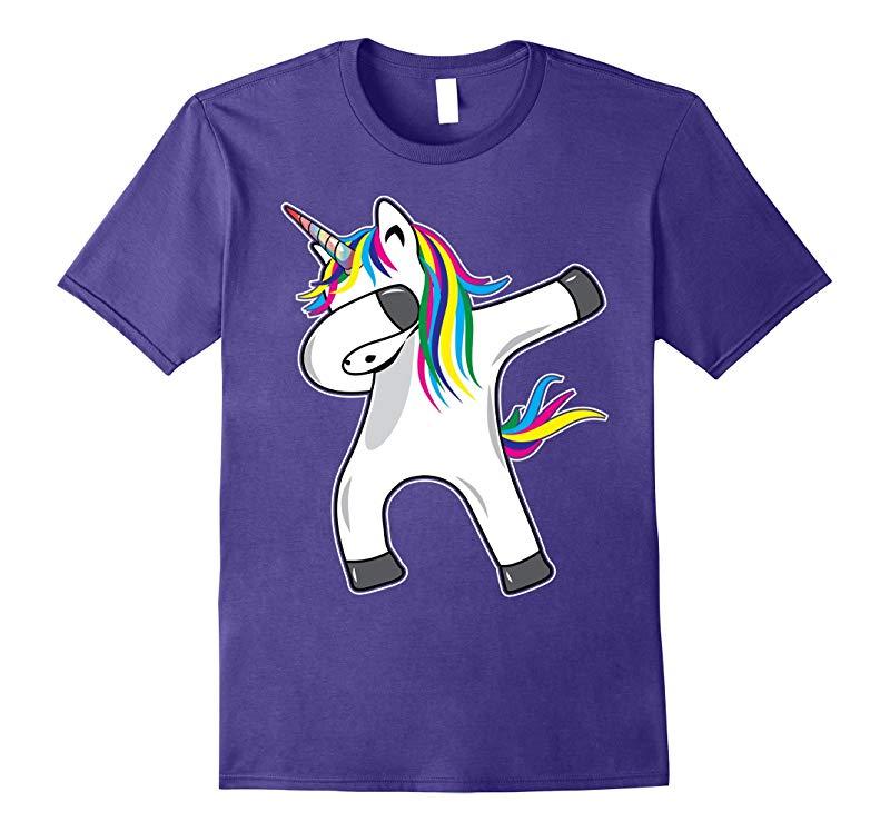 Unicorn Dabbing Novelty T-shirt-RT