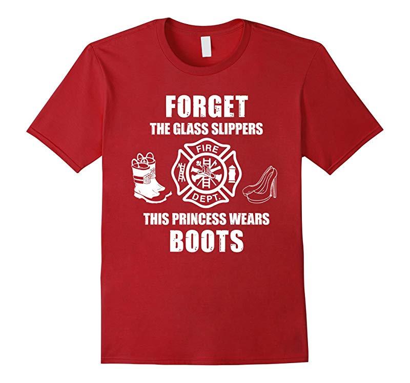 FIREWOMAN Female Firefighter Shirt Girl Fire Boots Shirt-RT