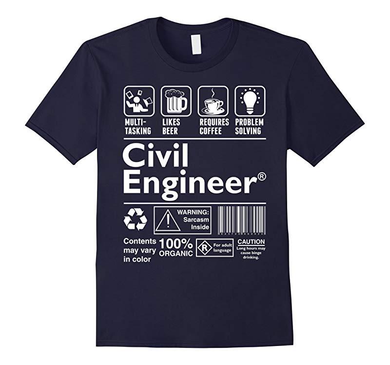 Beer Coffee Problem Solving Civil Engineer Tshirt-RT