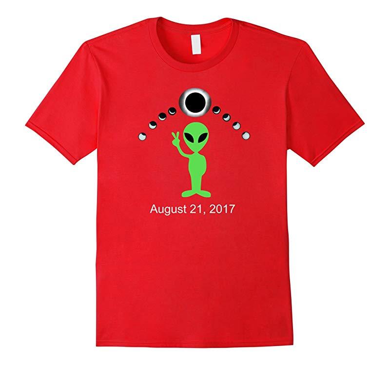 Alien Peace Sign for Solar Eclipse August 21, 2017: T-Shirt-BN