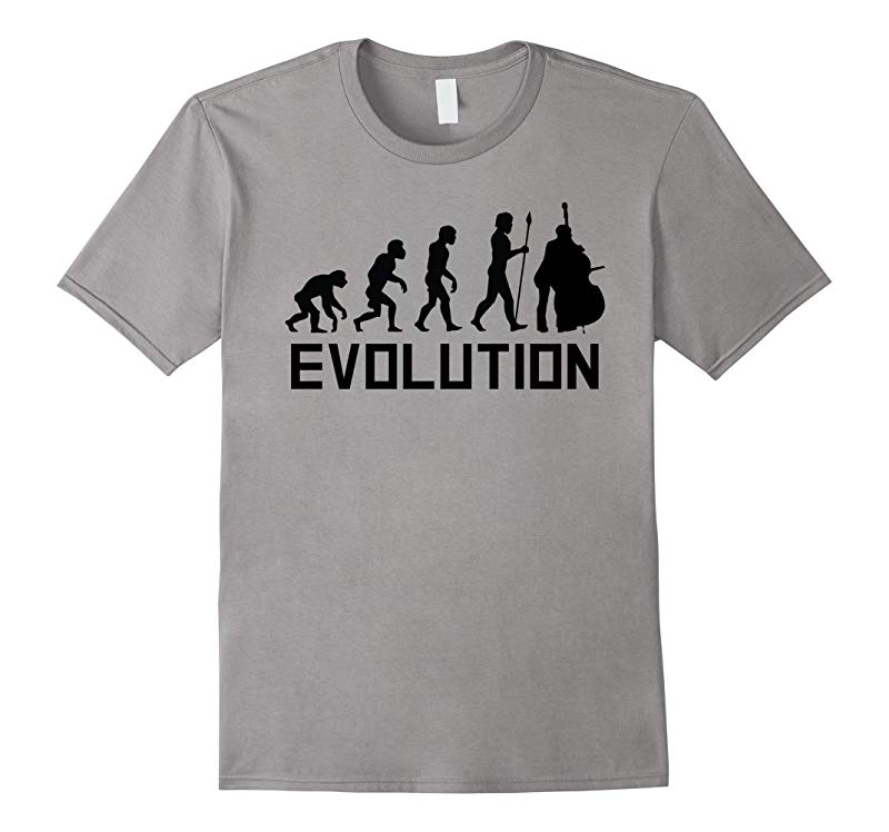 Standing Bass Evolution Funny Music Shirt-RT
