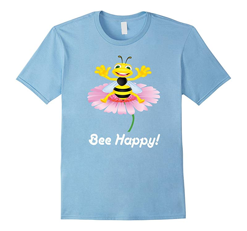 Bee Happy Bumble Bees Honey Keeping Hives Queen T-Shirt Cute-RT