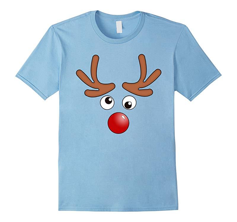 A Red Nose Reindeer Face T-Shirt by ZINEZ-RT